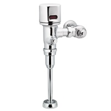"Chrome M-POWER Battery Operated Exposed Brass Electronic Urinal Flush Valve 3.8 LPF With 3/4"" Top Spud ADA"