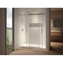 AKCESS DR1296-110-003, 2 Sliding Panel Shower Door 60'' x 77'', Chrome, Clear Glass, Box 2 of 2