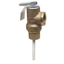 "Temperature and Pressure Relief Valve 1/2"" 125Psi For Water Heater and Storage Tank 1L-2"