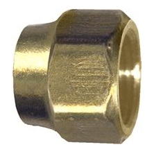 "Brass Standard Forged Nut, 1/2"" Flare"