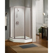 Neo-Angle Door SILHOUETTE N-ANGLE PIVOT 38 X70 Clear Chrome