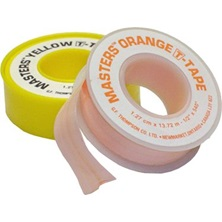 "1/2"" x 260"" MASTERS T-Tape Orange Teflon Tape Roll For Natural Gas O.D. Pipe 3"""